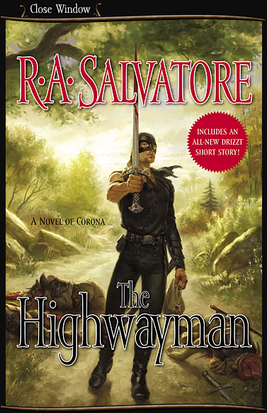 R A SALVATORE'S THE HIGHWAYMAN - BOOK COVER